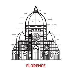 florence landmark vector image vector image