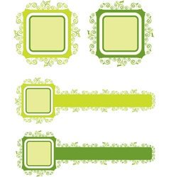 green floral background 1 vector image vector image