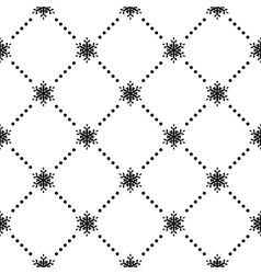 Seamless pattern of snowflakes eps 10 vector