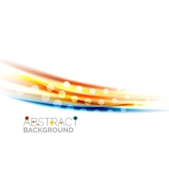 Shiny color lines on white background - motion vector image vector image