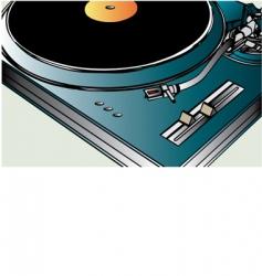 vinyl player vector image