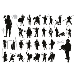 Warriors collection vector image vector image