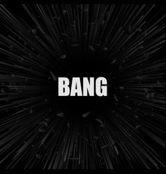 abstract black explosion banner vector image vector image