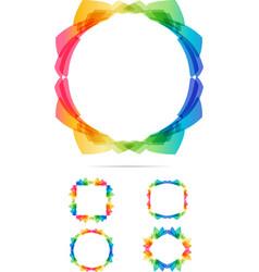 colorful tech frames set vector image vector image