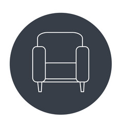 Couch home isolated icon vector