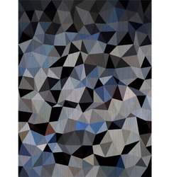 Dark blue and black triangles background vector image vector image