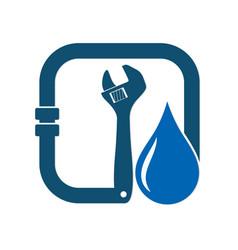 design repair plumbing vector image vector image
