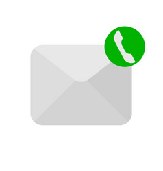 message phone handset icon vector image