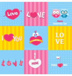 Retro Love Cards vector image vector image