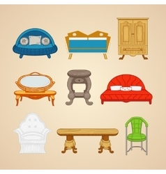 Set of of home furnishings on a vector image