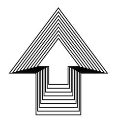 arrow up icon design vector image vector image