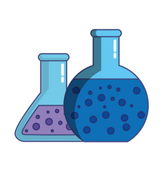 chemical bottles icon vector image