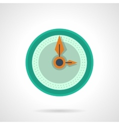 Flat color clock dial icon vector image