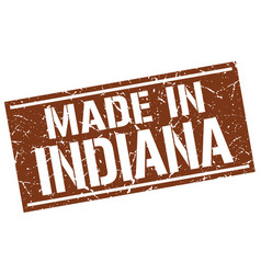 made in indiana stamp vector image vector image