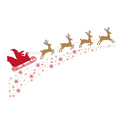 santa on a sleigh with reindeer vector image