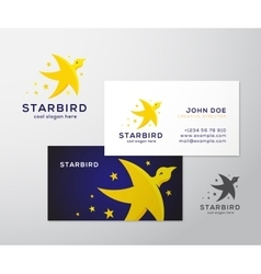 Star Bird Abstract Logo and Business Card vector image vector image