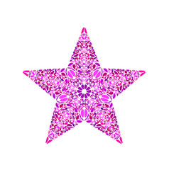 Abstract geometrical floral star symbol vector