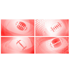 Abstract rugby backgrounds vector