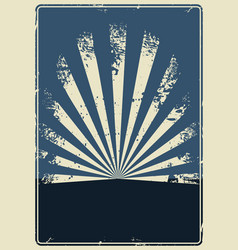 abstract vintage template vector image