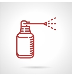 Anesthetic spray red line icon vector
