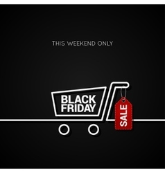 Black Friday sale tag and shopping background vector
