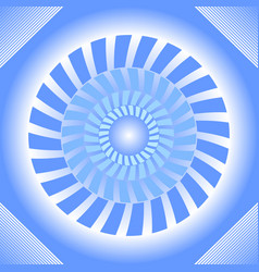 blue tile with circle absteract shape in op-art vector image