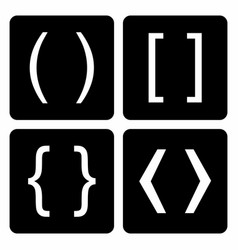 bracket set collection vector image