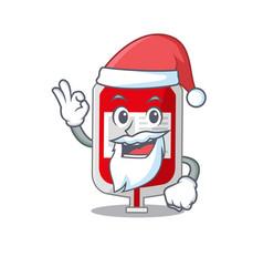 Cartoon character blood plastic bag santa vector