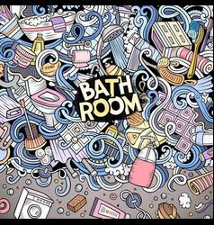 cartoon doodles bathroom frame vector image