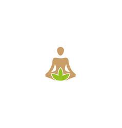 creative person cannabis pose logo vector image