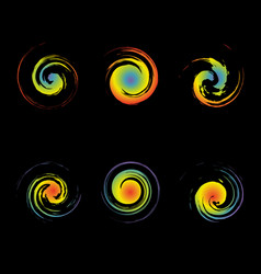 creative swirl symbols are similar to the vector image