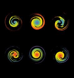 creative swirl symbols are similar vector image