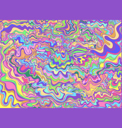 decorative psychedelic waves pastel color vector image