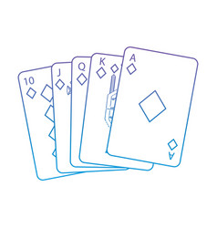 diamonds suit french playing cards related icon vector image