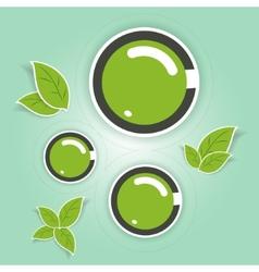 Eco-friendly green circles vector image