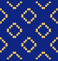 ethnic folk ornament abstract navy blue pattern vector image