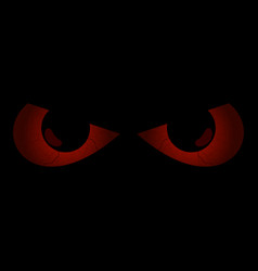 Evil scary eyes black pupils halloween element vector