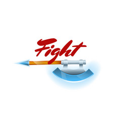 Fight game element with hatchet vector