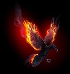 Fire raven vector image