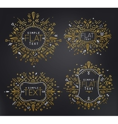 Flat monograms gold vector image