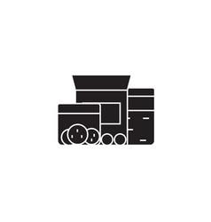 food storage black concept icon food vector image