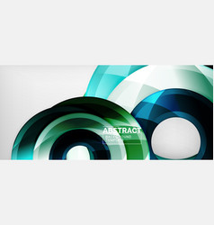glossy circles geometric background vector image