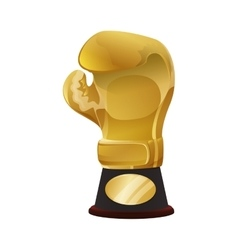 Glove trophy icon Boxing design graphic vector