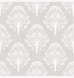Gray french linen texture background printed vector