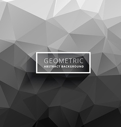 Gray white polygonal background vector