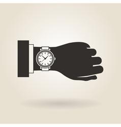Hand Wristwatch vector