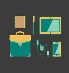 Handbag icon concept vector
