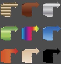 Hands arrows EPS10 vector
