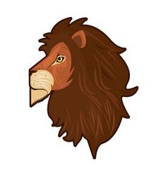 Head lion king profile colorful icon vector