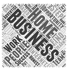 Honest Home Based Business Review Word Cloud vector image